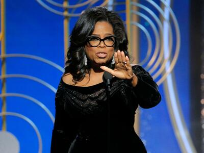 Oprah Winfrey bei den Golden Globe Awards in Beverly Hills. Quelle: AP