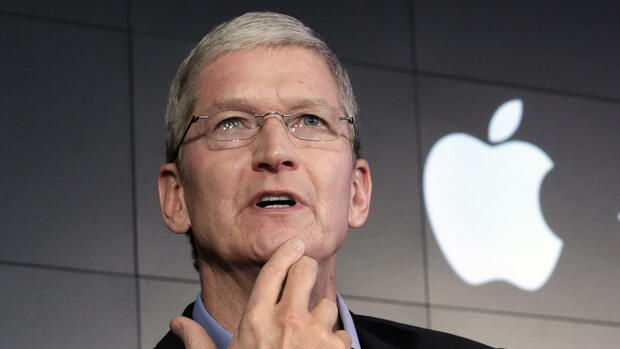 Apple-Chef Tim Cook. Quelle: AP,AP