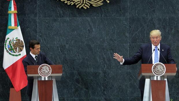 US-Medien: Frostiges Telefonat Trumps mit Mexikos Präsidenten