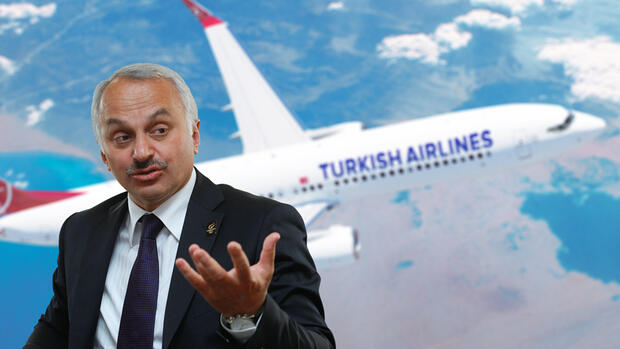 Turkish-Airlines-Boss Temel Kotil will seine Airline zur größten Europas machen. Quelle: rtr, Montage