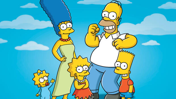 The Simpsons: Maggy, Marge, Lisa, Homer und Bart Quelle: dapd
