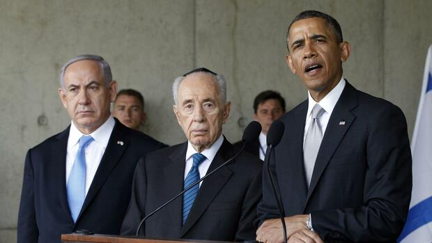 Obama Netanyahu Peres Quelle: Reuters