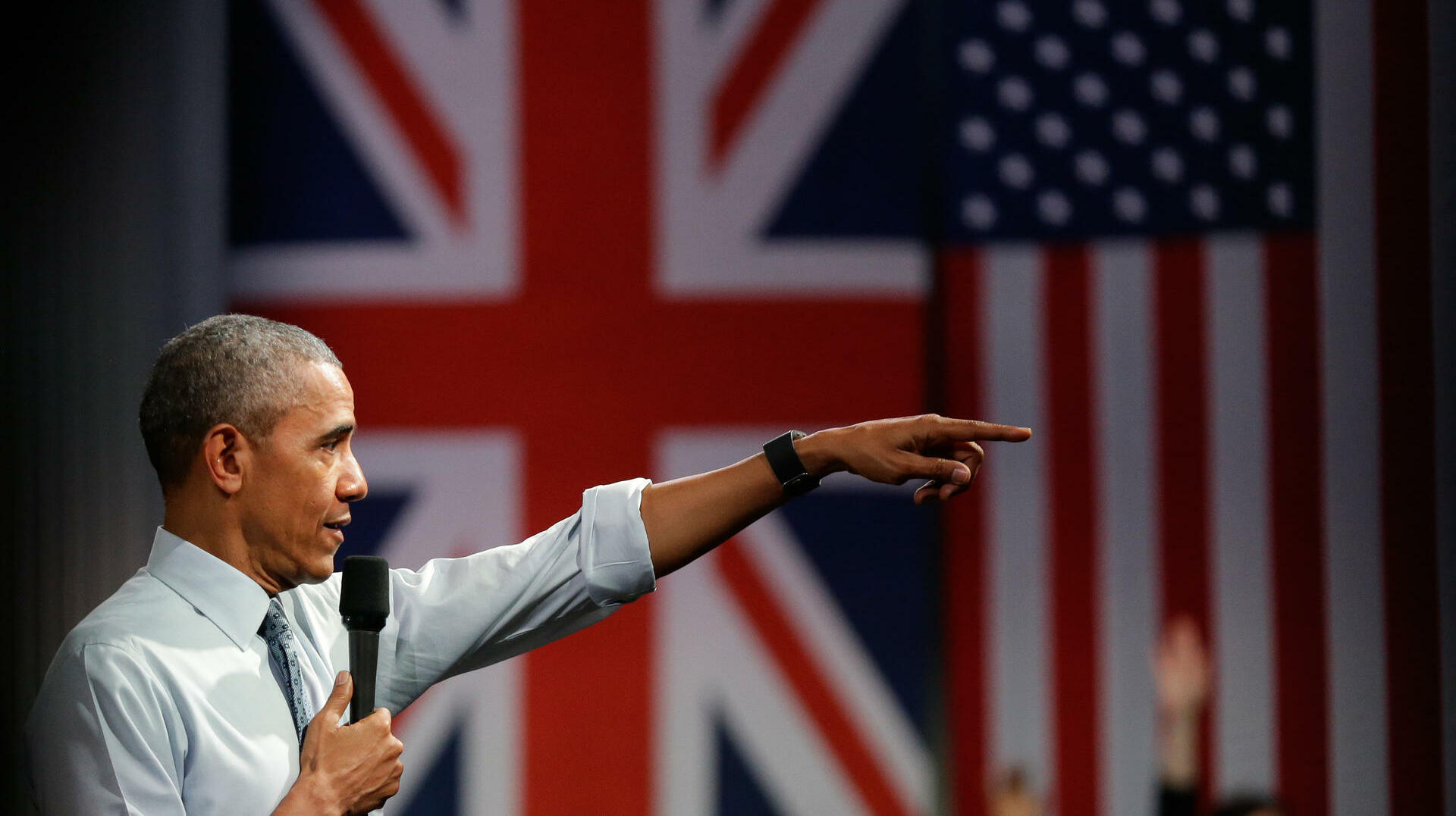 US-Präsident Barack Obama in London Quelle: AP