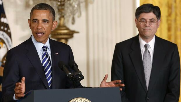 Barack Obama Jack Lew Quelle: REUTERS