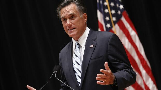 Republican presidential nominee and former Massachusetts Governor Mitt Romney Quelle: REUTERS