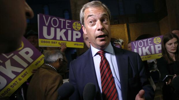 UKIP-Chef Nigel Farage Quelle: REUTERS