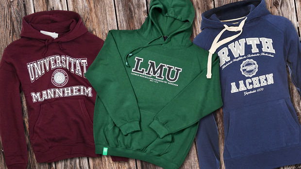 Universität Mannheim-, LMU-, RWTH-Sweatshirts Quelle: Collage