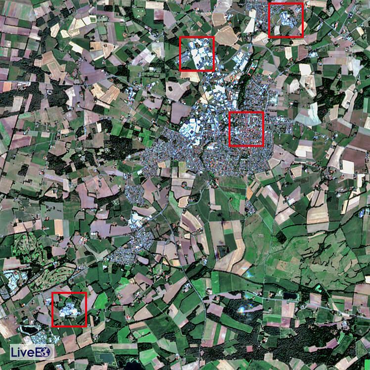 Standorte der Wurstfabriken