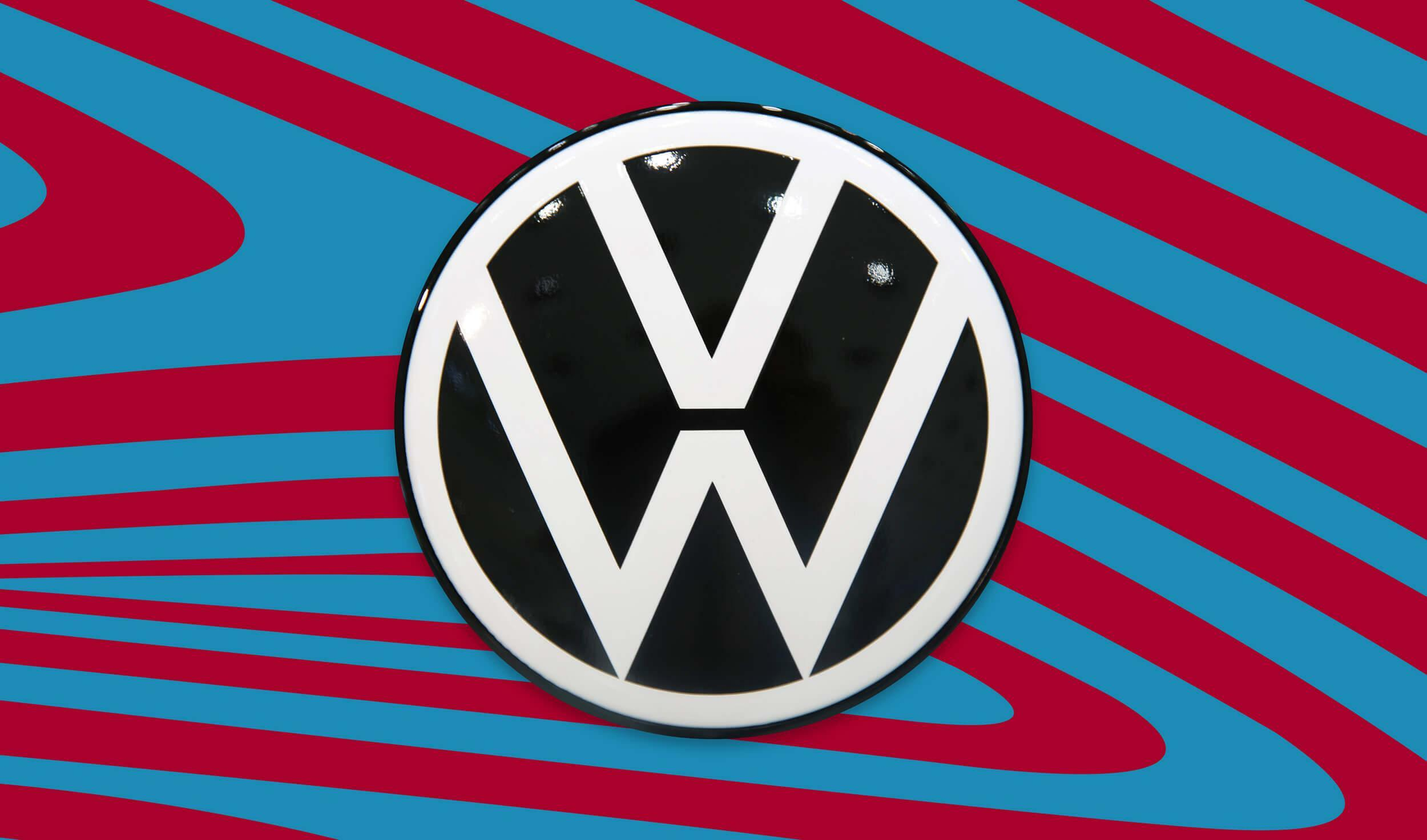 Ausgangspunkt für die Neugestaltung des neuen VW-Logos