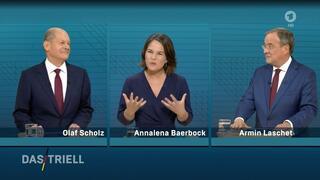 TV-Triell der drei Kanzlerkandidaten: Endlich Angriff!