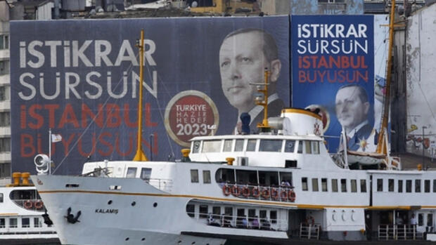 Wahlplakate in Instanbul Quelle: REUTERS
