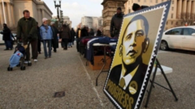 Washington im Obama-Fieber: Quelle: dpa