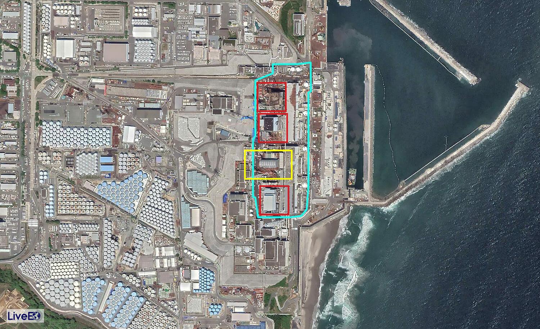 Zerstörte Reaktorgebäude