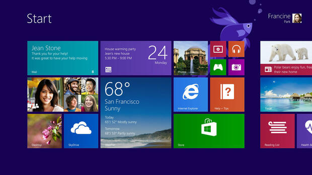 Windows 8.1 Quelle: dpa