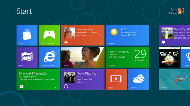 Windows 8 Quelle: dpa