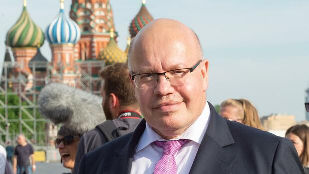 Peter Altmaier in Russland. Quelle: dpa