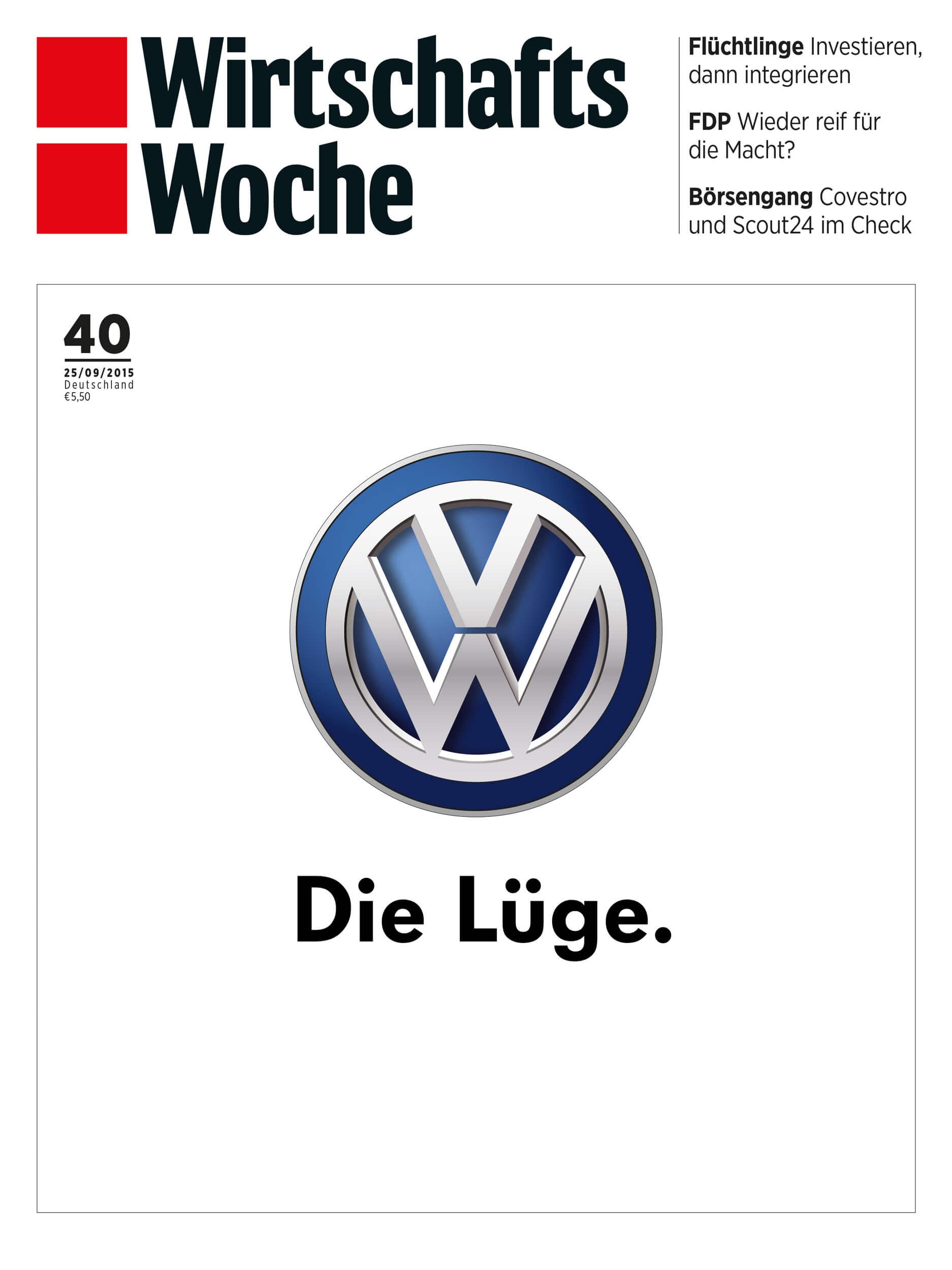 Cover der WirtschaftsWoche 40/2015 vom 25.09.2015