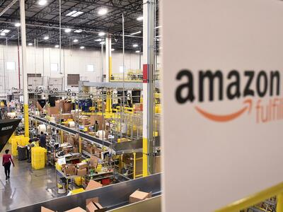 Rege Betriebsamkeit in einem US-Amazon-Center am Cyber Monday. Quelle: REUTERS