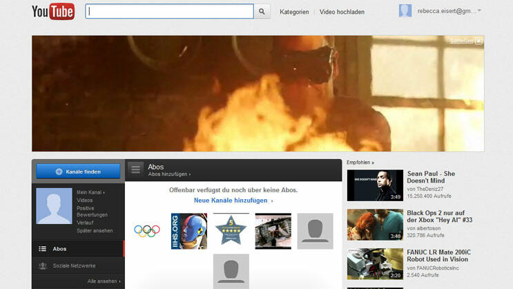 YouTube MoviesAnbieter: Google Inhalte: Kinofilme, TV-Serien Titel: rund 30 Technik: VoD, Stram Leihdauer: unbegrenzt Preis/Film: frei Info: Winziges Angebot, Oldie Titel, werbefinanziert Quelle: Screenshot