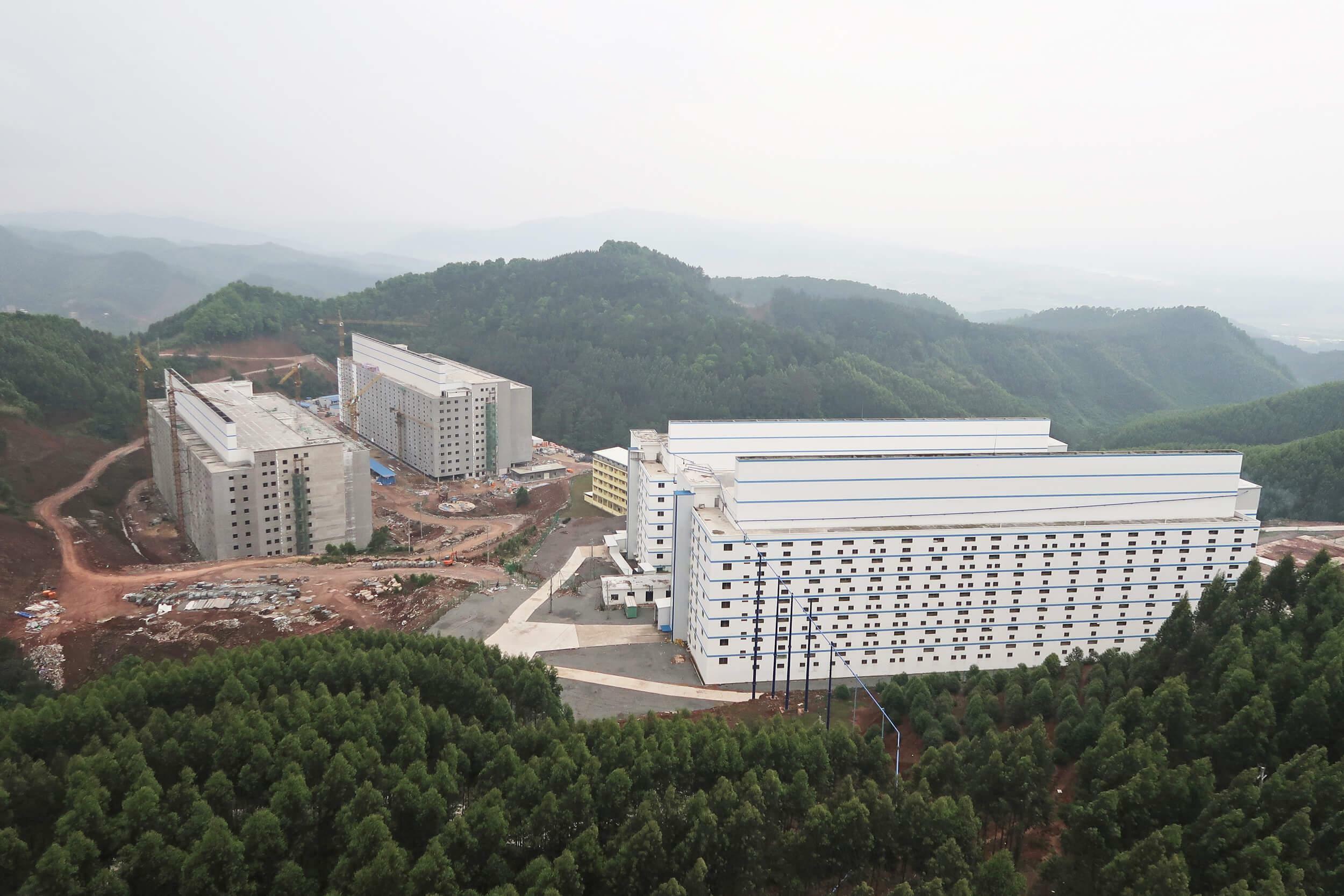 Schweinefarm Yangxiang: Hochhäuser von bis zu 13 Stockwerken